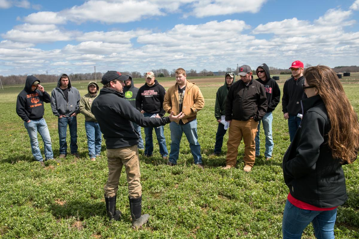 Forage class in field