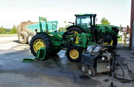 John Deere tractor  in for repairs