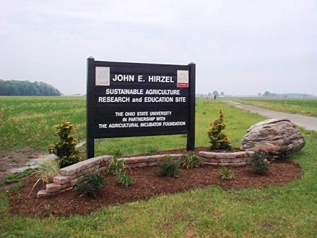 Sign at John Hirzel site in Bowling Green